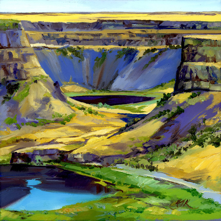 Dry Falls Overlook Study by Autumn Kegley
