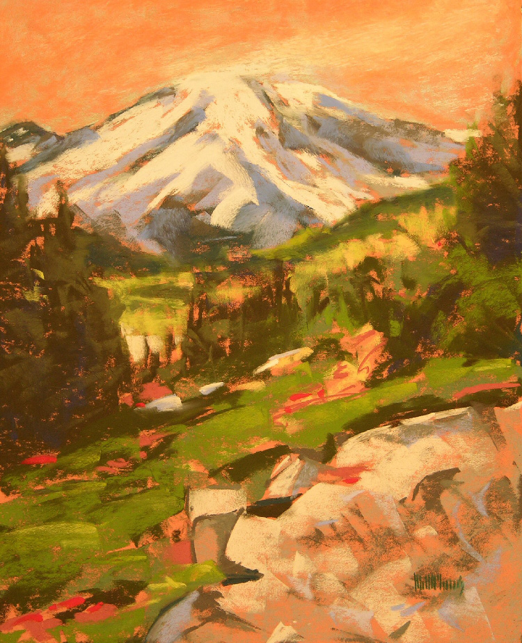 Mt Rainier From Sourdough Trail by Mary McInnis