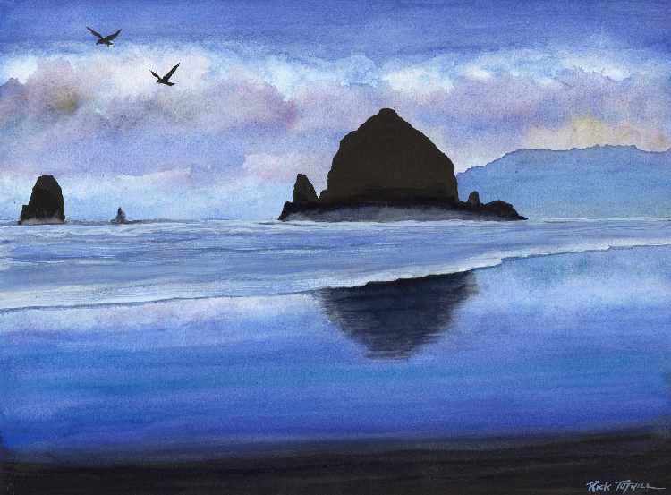 Haystack Rock by Rick Tuthill