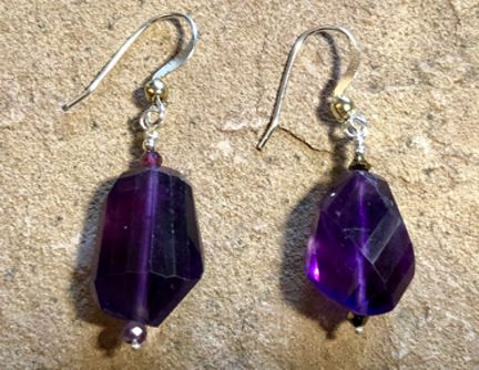 Amethyst Gem Earrings by Eve Ingraham