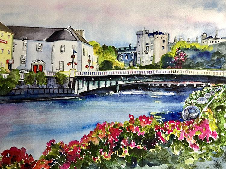 Over The Bridge To Kilkenny Castle by Eve Ingraham