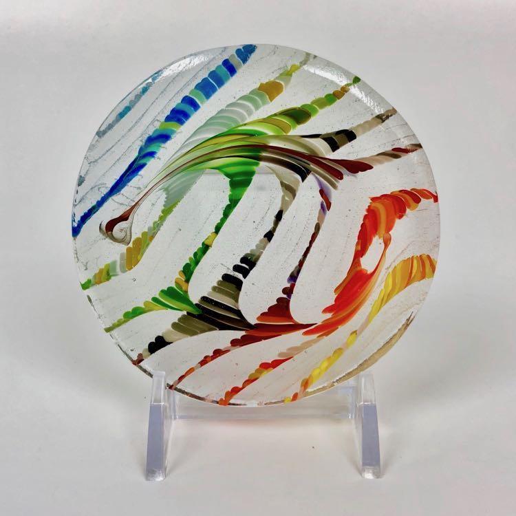 Rainbow Tapestry Combing by JLS Glass Studio $42