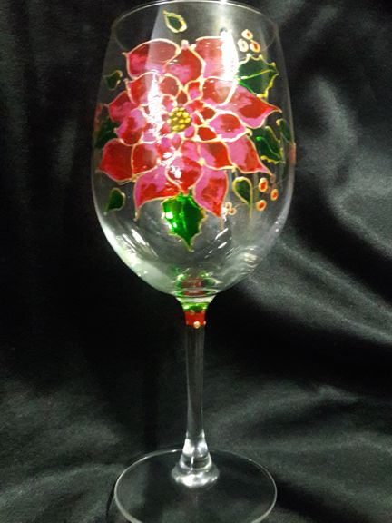 Hand Painted Goblet by Leah Rene Welch