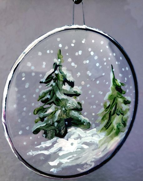 Hand Painted Ornament by Sue Swapp