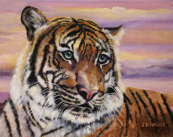Sunset Tiger by JR Hawse $275