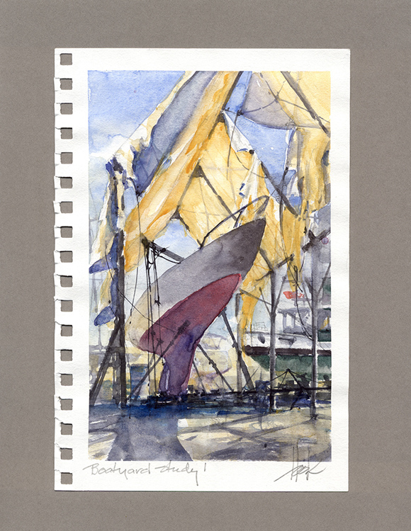 Boatyard Study 1 by William Hook $300