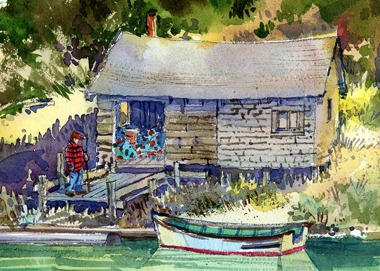 Chenois Creek Shed by James McFarlane $130