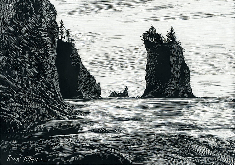 End of the Beach at La Push by Rick Tuthill $200