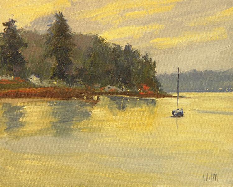 Evening on Beach Dr. by Mary McInnis $420