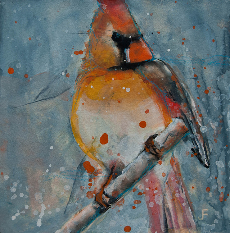 Female Cardinal by Jani Freimann $250