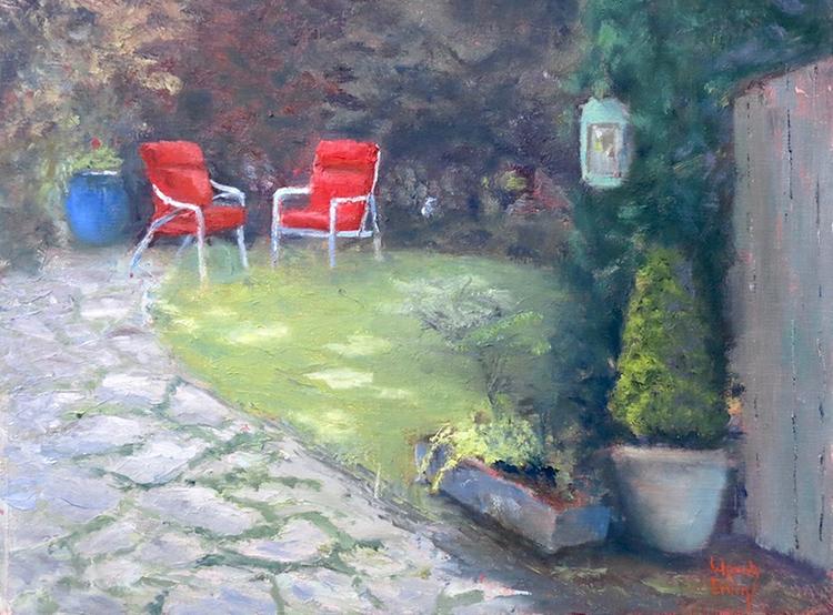 Garden Retreat by Wendy Ervin $325