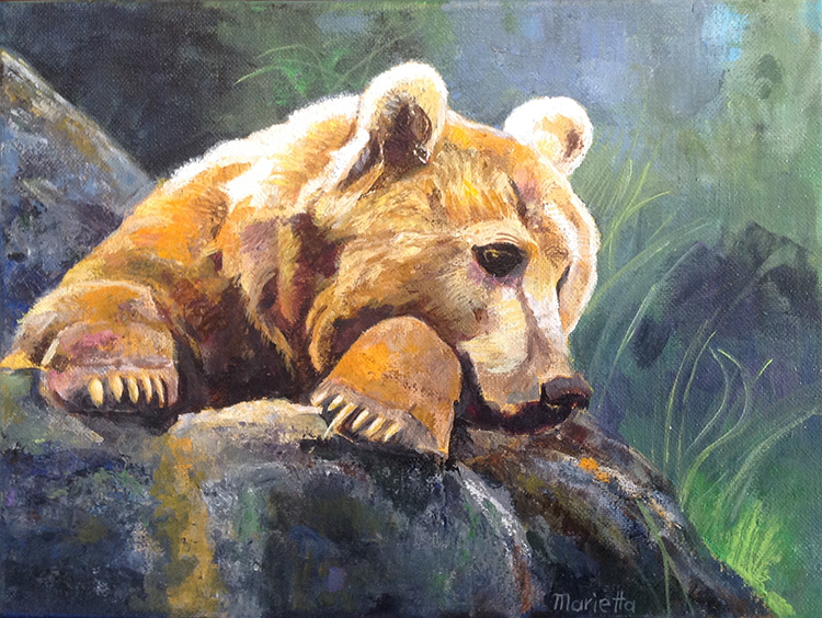 Grizzly by Marietta Modl - Sold