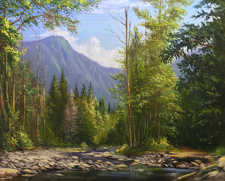Index Creek Bed Study by Frankie Gollub $475