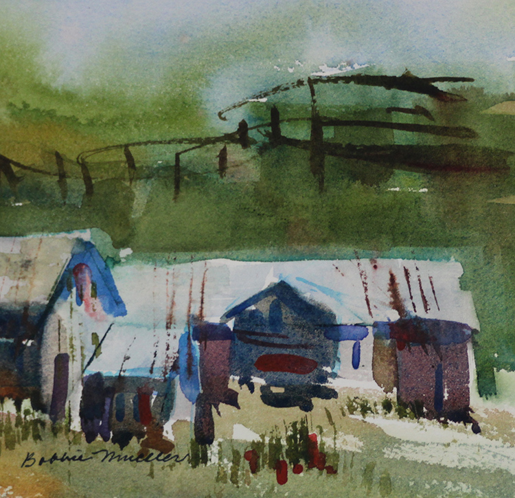 Island Outbuildings by Bobbie Mueller $200