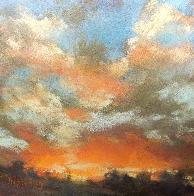 Looking West by Deborah Henderson - Sold