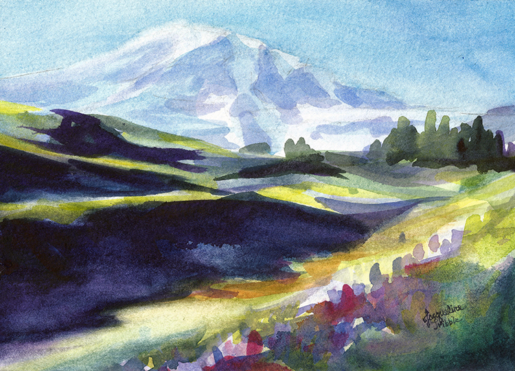 Mount Rainier Study by Jacqueline Tribble $145