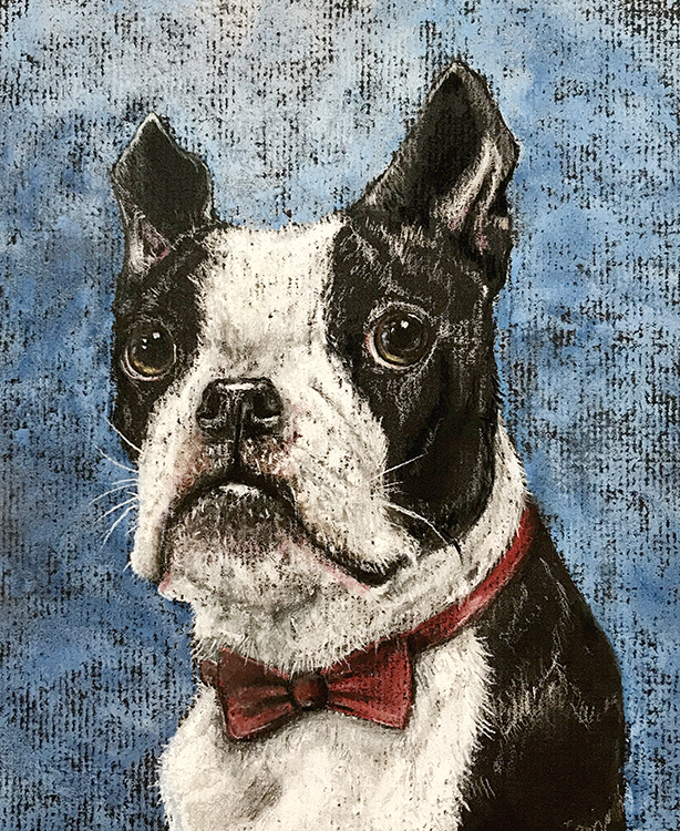Mr. Handsome Boston Terrier by Kristen Jones-Wickersham $150