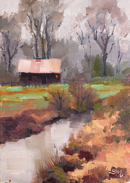 Off Springhetti Road-Plein Air by Susan McManamen $135
