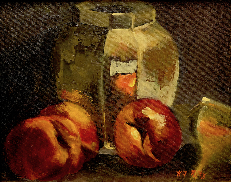 Peaches in the Mirror by Kathleen Ritz $275