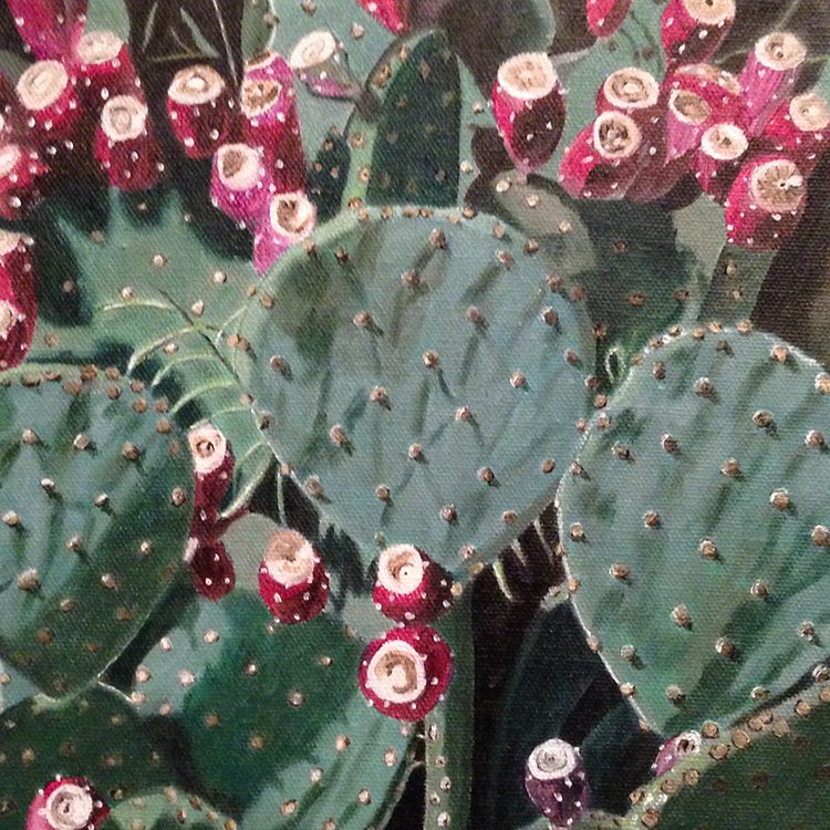 Prickly Pear Cactus by Karen Merkin $400