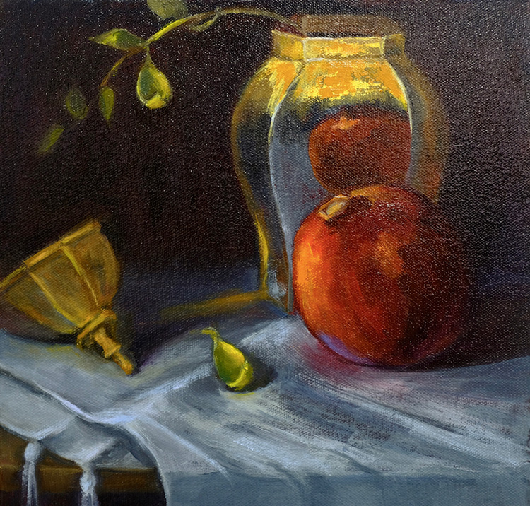 Reflections of a Persimmon by Kathleen Ritz $290