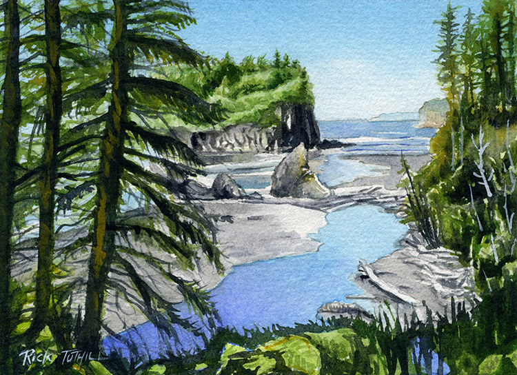 Ruby Beach by Rick Tuthill - Sold