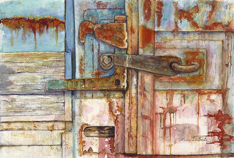 Rusty Latch by Lisa DeBaets $330