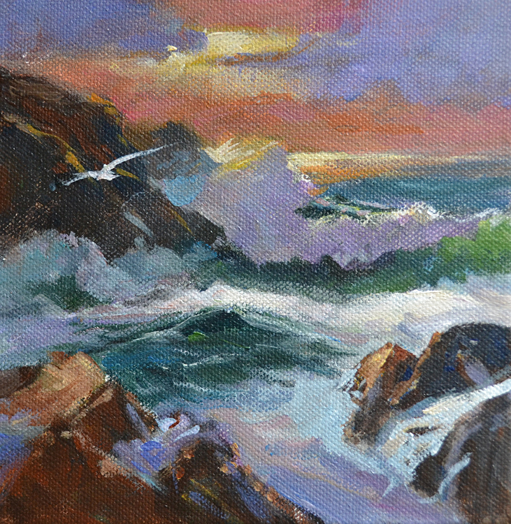 Sunset Surf by Delores Haugland $110