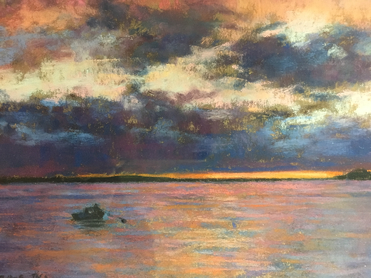 Sunset on the Water by Annette Hanna $450