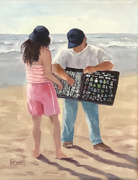 The Beach Vendor by Elaine Cohn $140