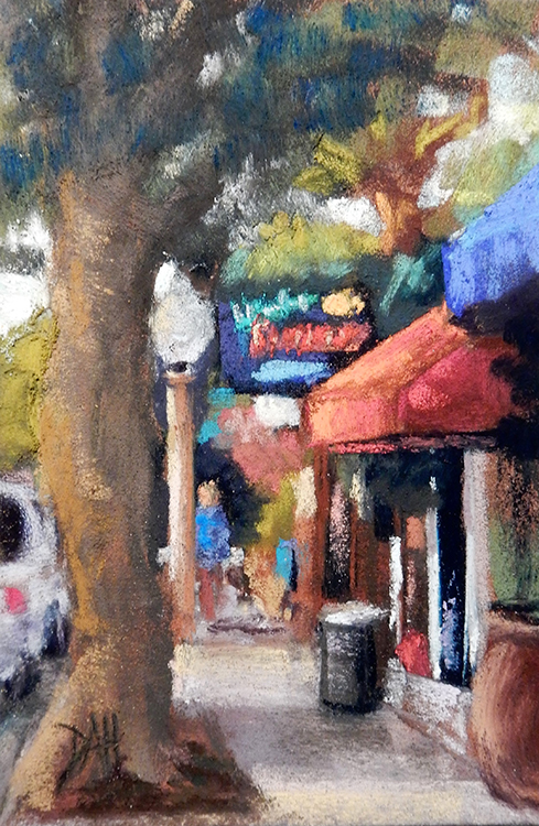 The Cafe by Deborah Henderson $125