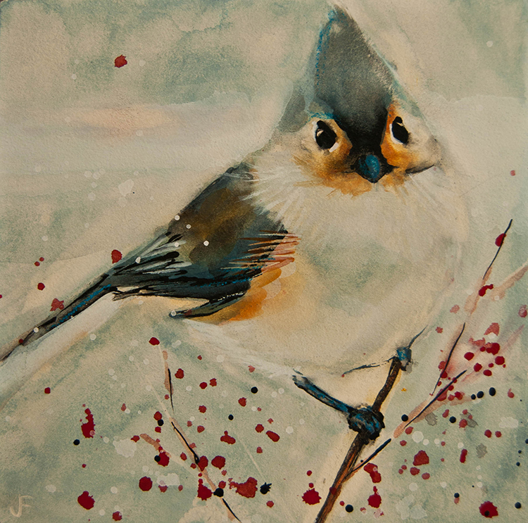 Tufted Blue Titmouse by Jani Freimann $250