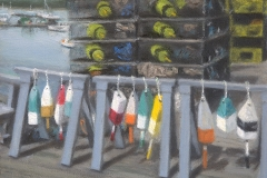 Buoys on the Dock by Ken Bachman $195