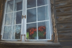 Geraniums in the Window by Ken Bachman $260