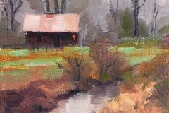 Off Springhetti Road-Plein Air by Susan McManamen $135