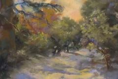 Peach and Lilac Shadows by Vicki Johnson $175