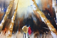 Snow Trail by Kathy Collins - Sold