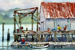 Willapa Bay Dock by James McFarlane $135