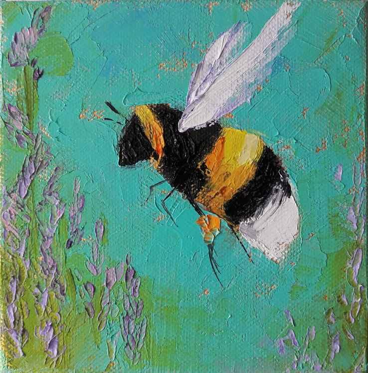 Web Liittle Bee by Leah Rene Welch $60