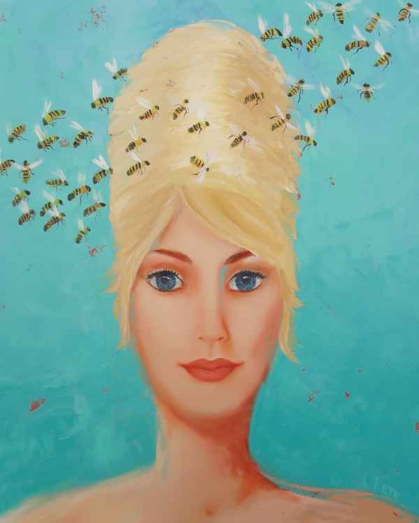 Web Queen Bee ll by Leah Rene Welch $ 350