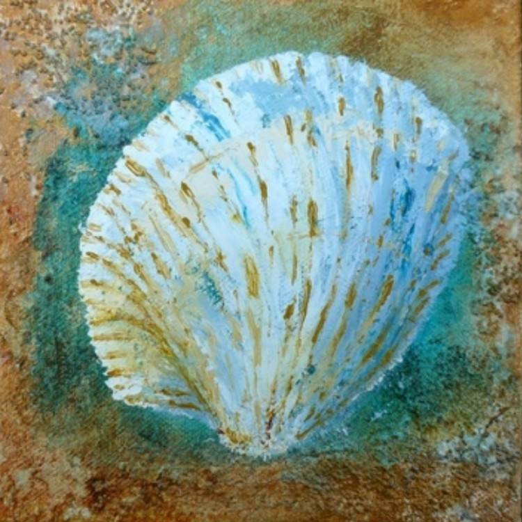 Web Cockle Shell by Leah Rene Welch $59
