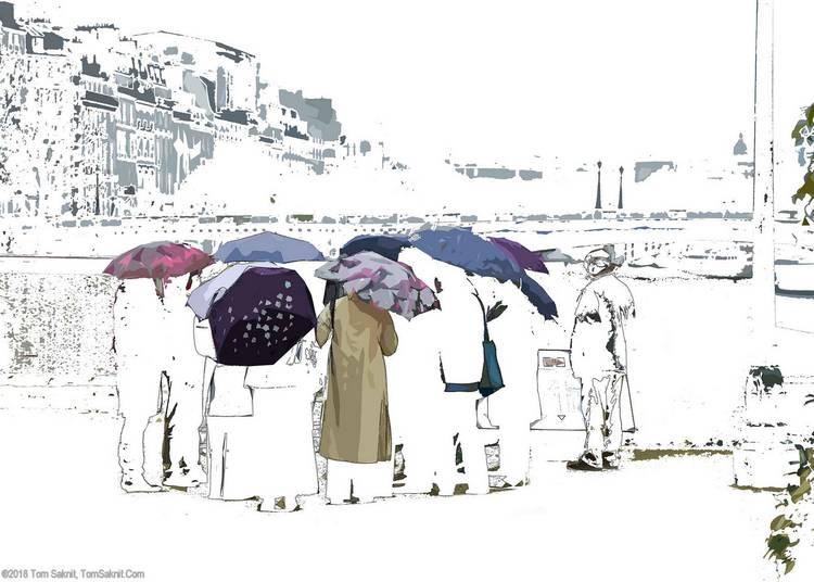 Web  Seine Parapluies Zero Three  by Tom Saknit $229 ©2018