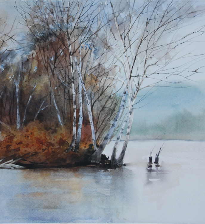 Foster Island Birches by Mary Anderson