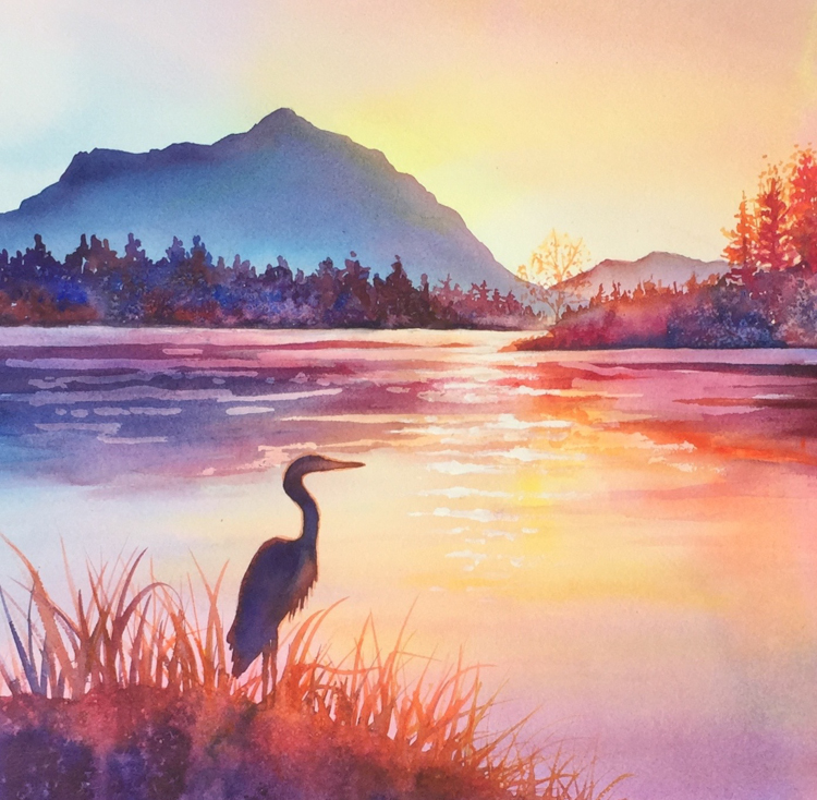 Shimmering Sunset by Beverly Fotheringham