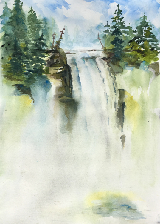 Snoqualmie Falls Revisited by Joan OByrne