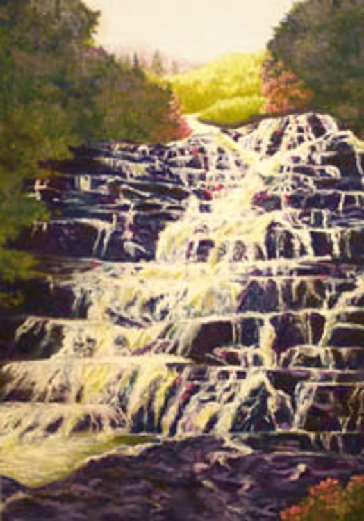 Stairstep Waterfall by Sally Abbey
