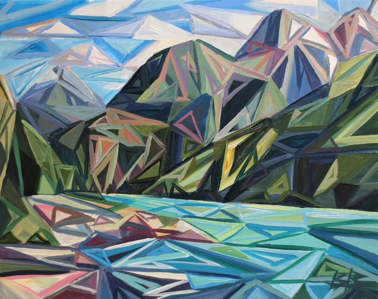 Triangulate in Turquoise (Diablo lake) by Brooke Borcherding
