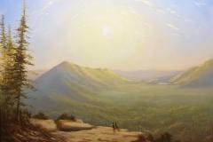 Sunrise at Rattlesnake Ledge by Frankie Gollub