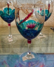 WEB Hand Painted Wine Glasses by Leah Rene Welch