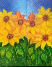 WEB Sunflowers by Leanna Leitzke $ 500